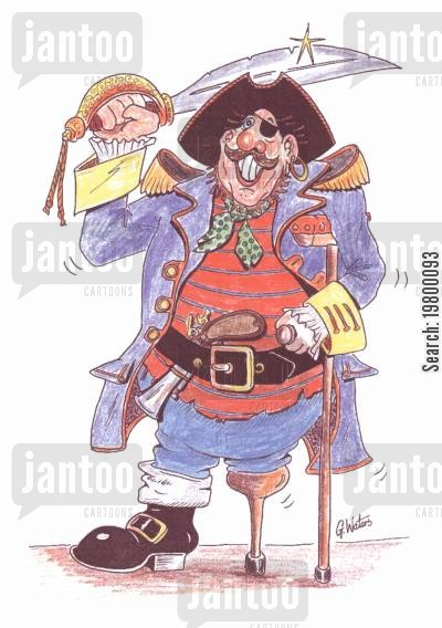 smugglers cartoon humor: Pirate