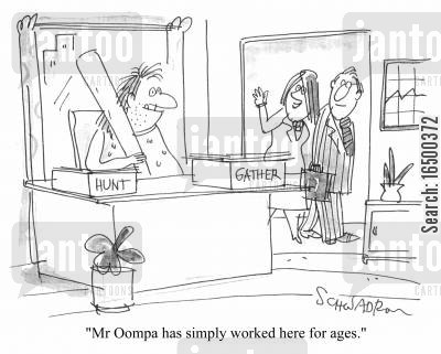 employe cartoon humor: Mr Oopma has simply worked here for ages