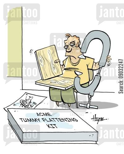 exercise equipment cartoon humor: Acme Tummy Flattening Kit