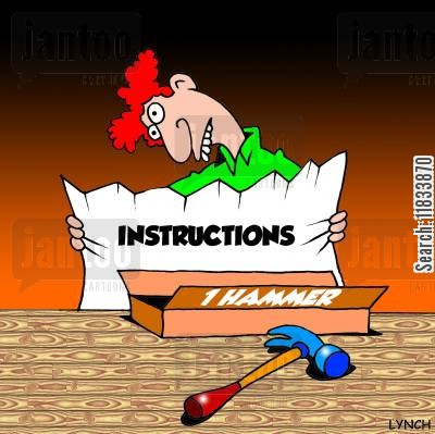 diy kit cartoon humor: Hammer Instructions