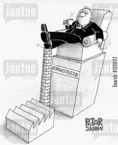 administrators cartoon humor: The role of administration.