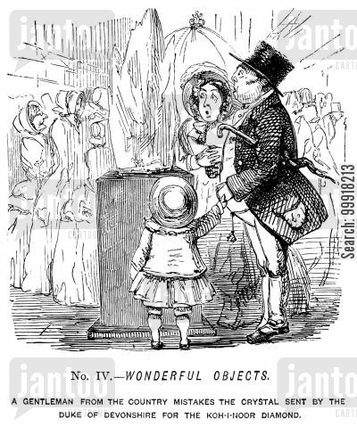industrial revolution cartoon humor: Memorials of The Great Exhibition - 1851. No. IV. - Wonderful objects.