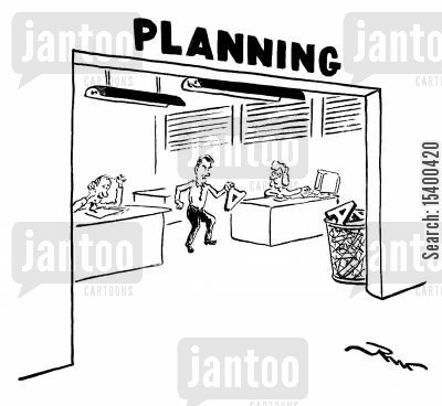 planning department cartoon humor: Planning Department