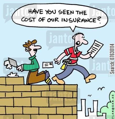 structure cartoon humor: Have you seen the cost of our insurance?