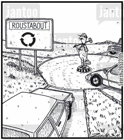 laboring cartoon humor: Roustabout.