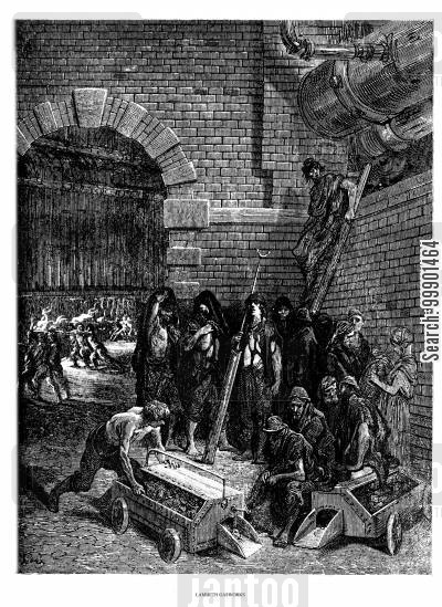 victorian industry cartoon humor: 'Lambeth Gasworks'