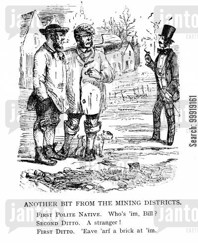 victorian miners cartoon humor: Another Bit From the Mining District.