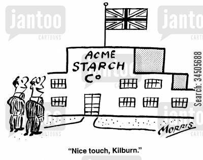 starch companies cartoon humor: Nice touch, Kilburn.
