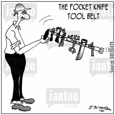pocket knife cartoon humor: The Pocket Knife Tool Belt