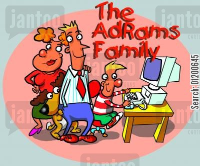 computer addicts cartoon humor: The AdRams Family no.33 - The AdRams family