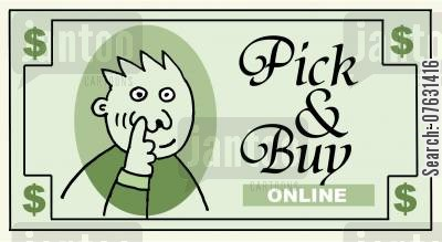 addicted to the internet cartoon humor: Pick & Buy Online.
