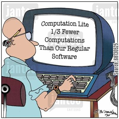 easy to understand cartoon humor: Computation Lite, 13 Computations Than Our Regular Formulas.
