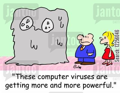 melt down cartoon humor: 'These computer viruses are getting more and more powerful.'