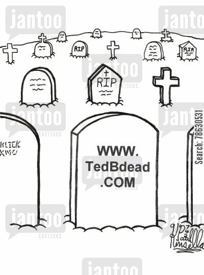 tomb cartoon humor: www.TedBdead.com