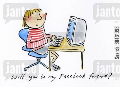 facebook friends cartoon humor: Will you be my Facebook friend?