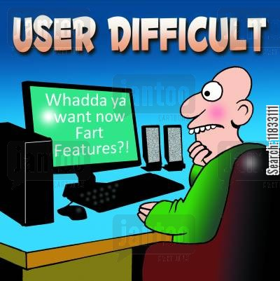 pc users cartoon humor: User Difficult.