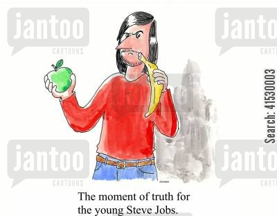 steve jobs cartoon humor: The moment of truth for the young Steve Jobs