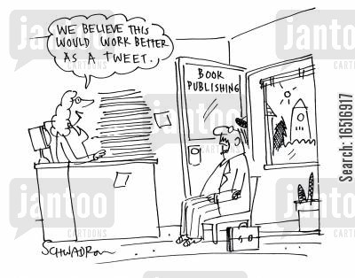 social networking site cartoon humor: 'We believe this would work better as a tweet.'