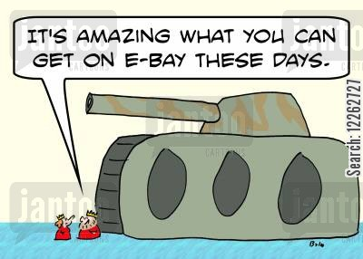 ebay cartoon humor: 'It's amazing what you can get on e-Bay these days.'