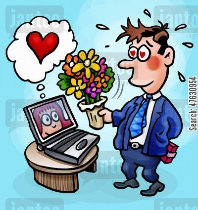 online date cartoon humor: Internet dating