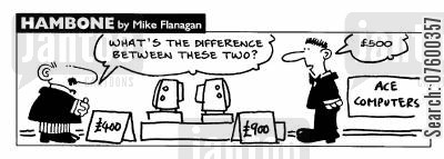 comparative cartoon humor: STRIP Hambone: What's the difference between these two?