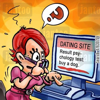 connect cartoon humor: Dating site - buy a dog.