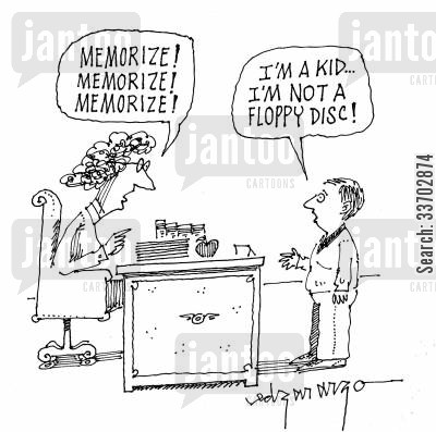 memorizing cartoon humor: 'I'm a kid...I'm not a floppy disk!'