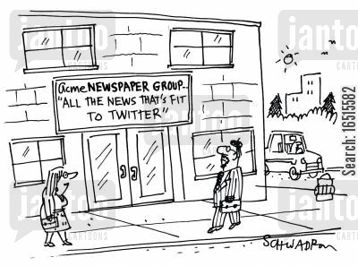 newspaper group cartoon humor: All the news that's fit to Twitter.