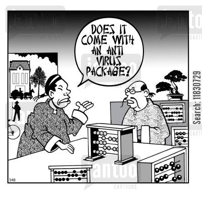 anti virus cartoon humor: Does it come with an anti virus package?