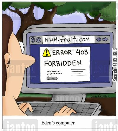browsers cartoon humor: Eden's computer