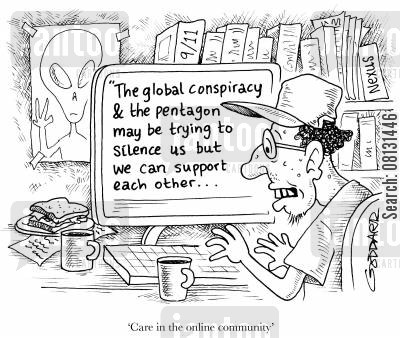 inquest cartoon humor: 'Care in the Online Community.'