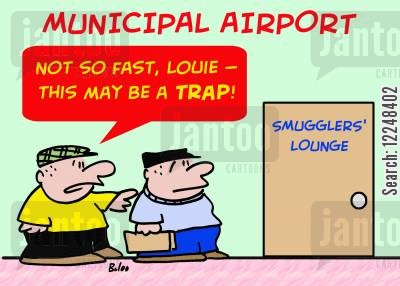 lounges cartoon humor: 'Not so fast, Louie -- this may be a trap...'