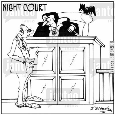 night court cartoon humor: Night Court