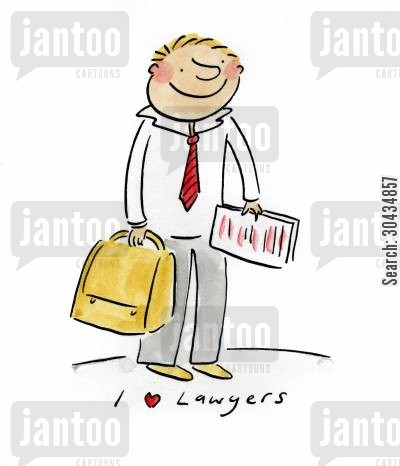 defendant cartoon humor: I love Lawyers
