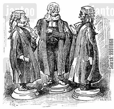 wig and gown cartoon humor: Barristers