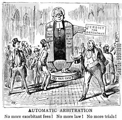 verdicts cartoon humor: Automatic Arbitration