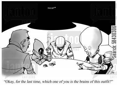 hoody cartoon humor: The Brains of the Outfit
