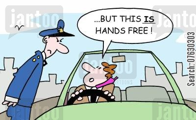 hands free cartoon humor: But this IS hands free!