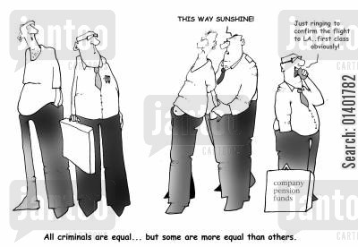 fraudulant cartoon humor: White Collar Crime.