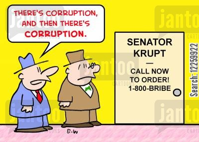 telephone lines cartoon humor: There's corruption and hten there's corruption.