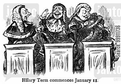 hilary term cartoon humor: Judges laughing