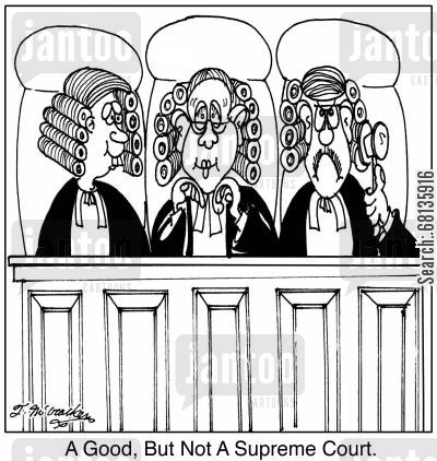 high court cartoon humor: A Good, But Not A Supreme Court