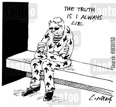 tell the truth cartoon humor: The truth is I always lie.
