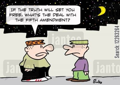 the truth will set you free cartoon humor: 'If the truth will set you free, what's the deal with the Fifth Amendment?'