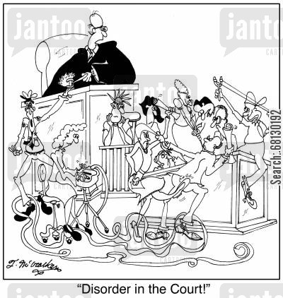 court reporters cartoon humor: Disorder in the Court!