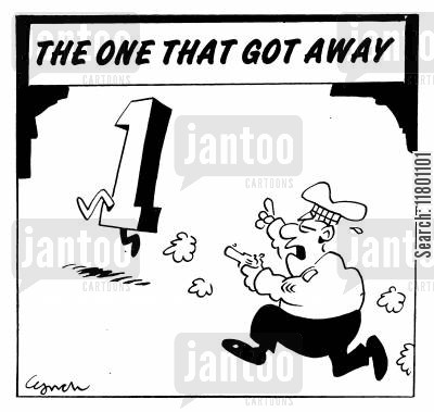 police chase cartoon humor: The 1 that Got Away