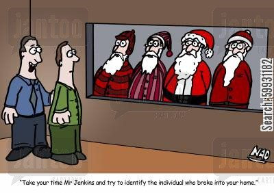 burglaries cartoon humor: 'Take your time Mr Jenkins and try and identify the individual who broke into your home.'