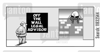 the courts cartoon humor: Off the wall legal advisor.
