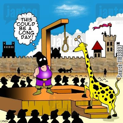 girrafe cartoon humor: 'This could be a long day.'