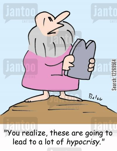 ten commandment cartoon humor: 'You realize, these are going to lead to a lot of hypocrisy.'
